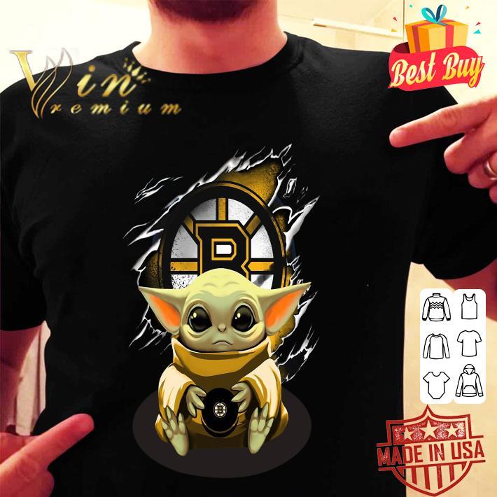 Star Wars Baby Yoda Blood Inside Boston Bruins shirt