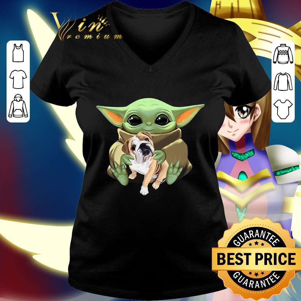 Star Wars Baby Yoda Hug Bulldog shirt