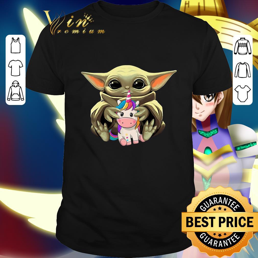 Star Wars Baby Yoda Hug Unicorn shirt