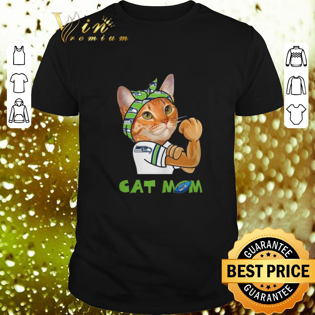 Strong Cat Mom Seattle Seahawks shirt