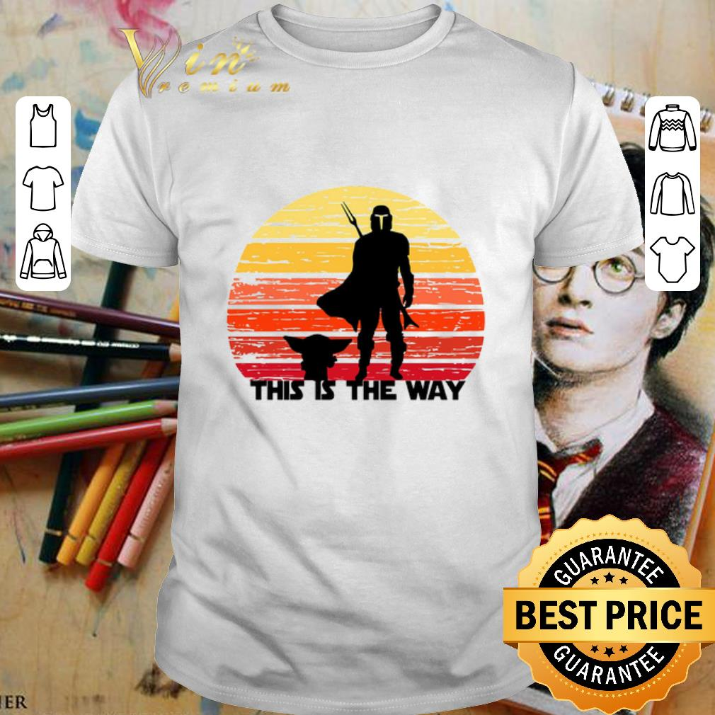 The Mandalorian this is the way sunset shirt