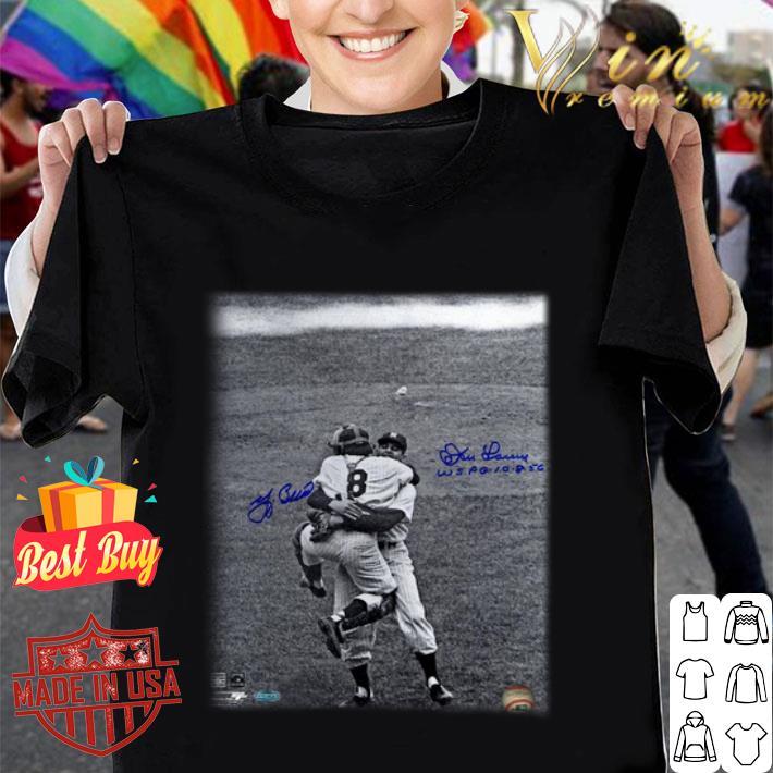 Yogi Berra & Don Larsen Yankees 1956 World Series Perfect Game shirt