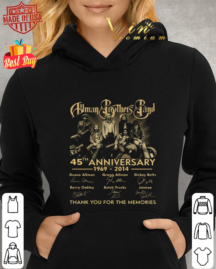 Allman Brothers Band 45th anniversary signatures thank you for the memories shirt