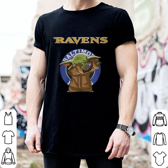 Baby Yoda Baltimore Ravens Logo Star Wars shirt