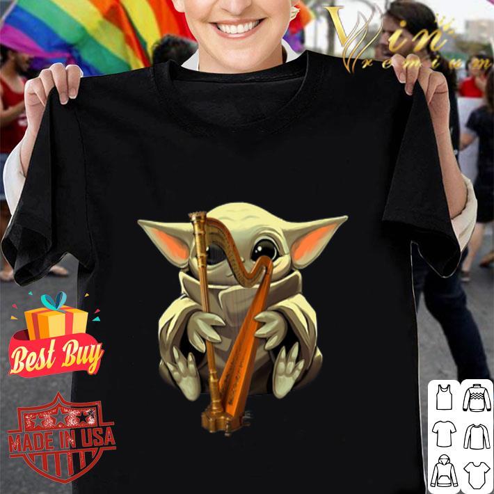 Baby Yoda Hug Harp Star Wars shirt