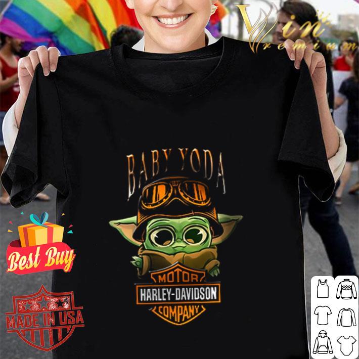 Baby Yoda Motor Harley-Davidson company Star Wars shirt
