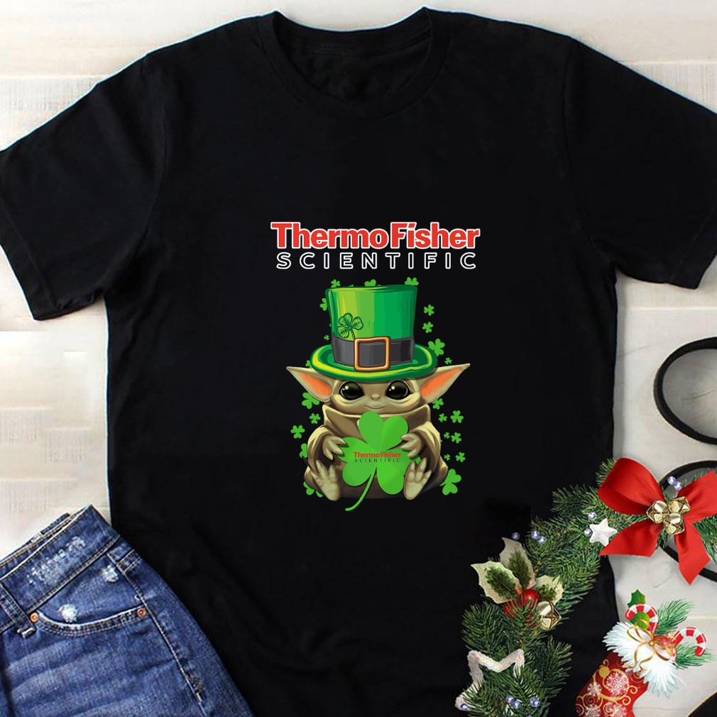 Baby Yoda Thermo Fisher Scientific St.Patrick's Day Star Wars shirt