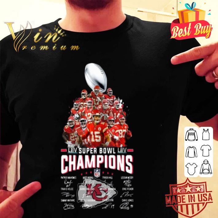 Champions Kansas City Chiefs Super Bowl LIV all Signature shirt
