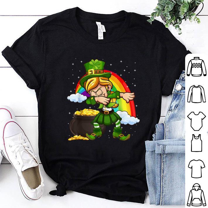 Dabbing Leprechaun St. Patrick's Day Rainbow shirt
