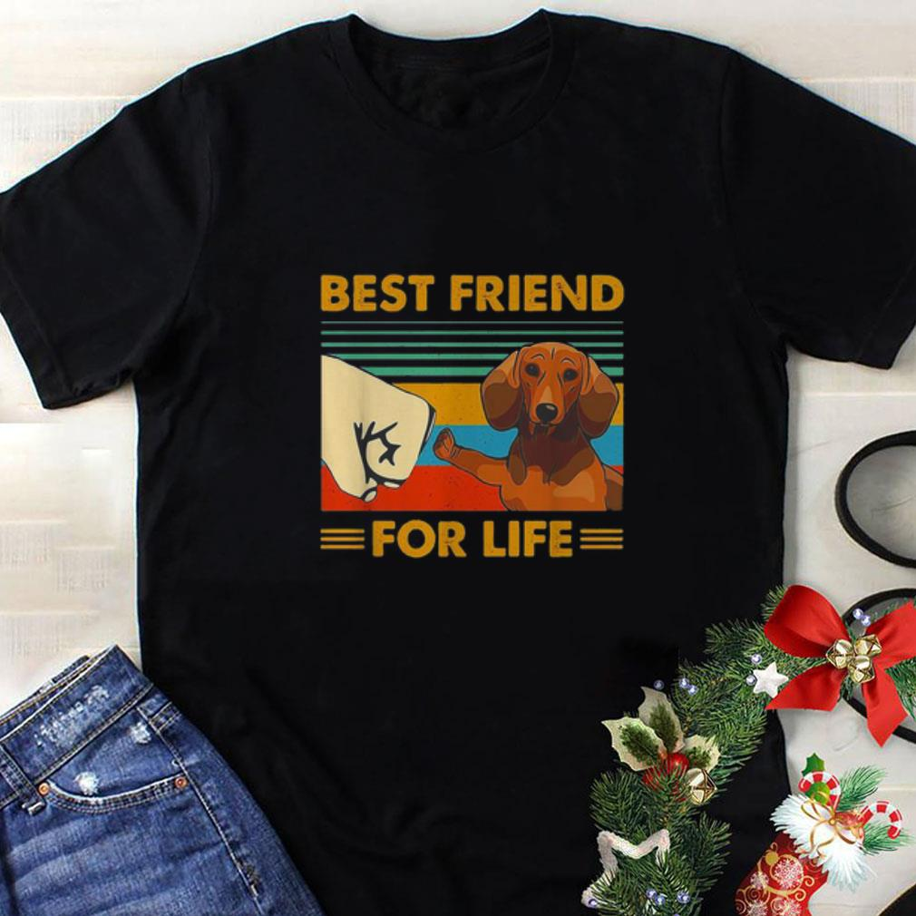 Dachshund best friend for life vintage shirt 1