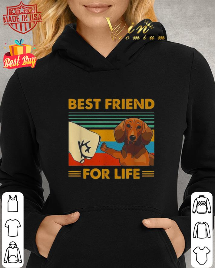 Dachshund best friend for life vintage shirt 2