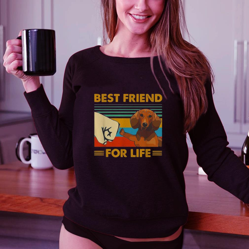 Dachshund best friend for life vintage shirt 3