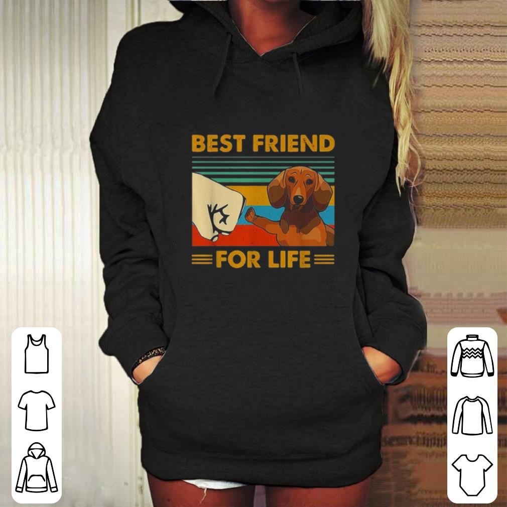 Dachshund best friend for life vintage shirt