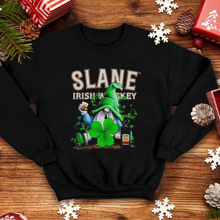 Gnome and Slane Irish Whiskey shamrock St Patrick's Day shirt