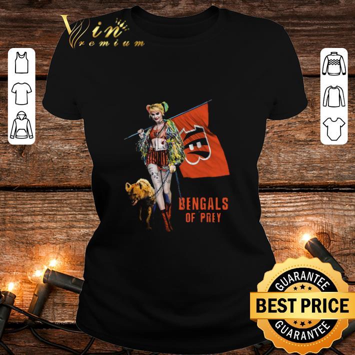 Harley Quinn Flag Cincinnati Bengals Of Prey shirt