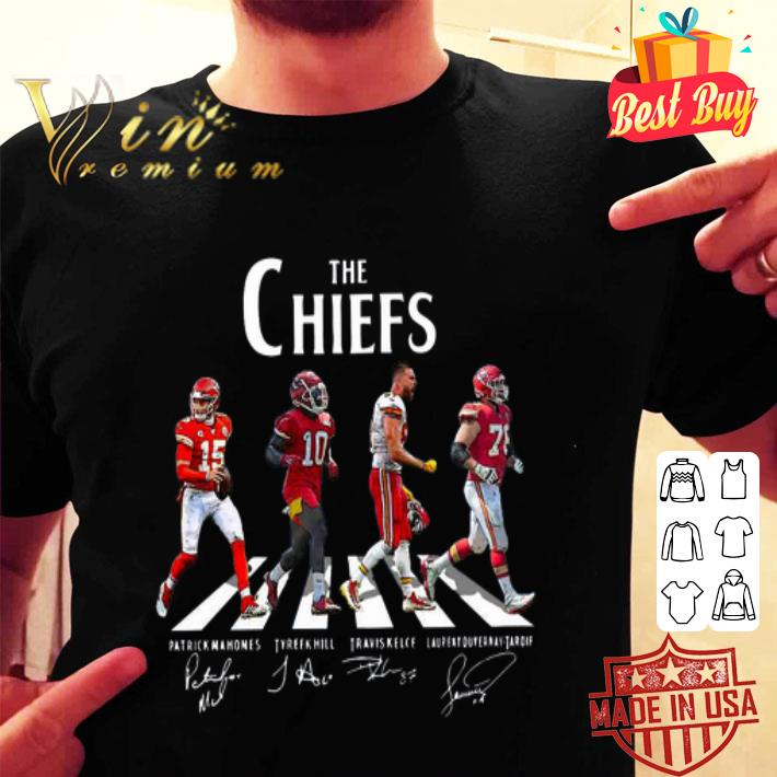 Kansas City Chiefs The Chiefs Abbey Road The Beatles signatures shirt