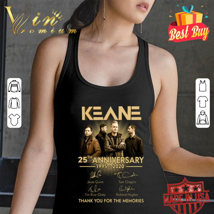 Keane 25th anniversary 1995-2020 signatures thank you for the memories shirt