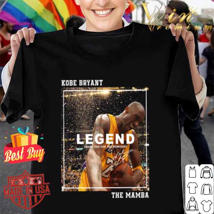 Kobe Bryant Legend thank you for the memories signed The Mamba shirt