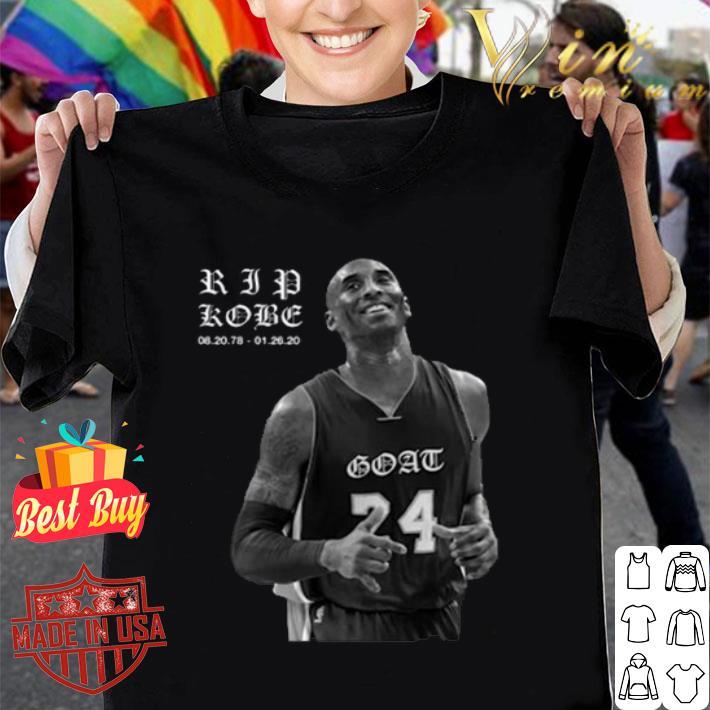 Kobe Bryant RIP Kobe 08.23.78 01.26.20 Goat shirt