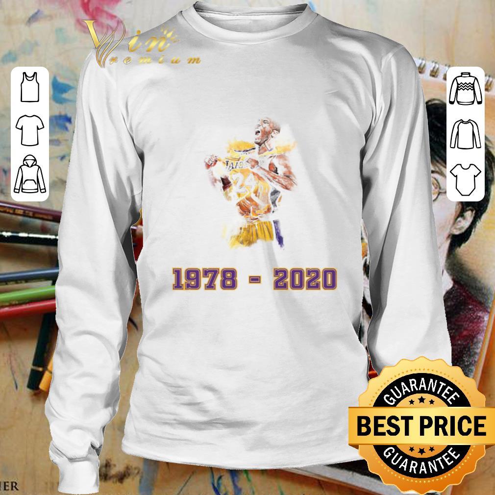 Lakers 24 Kobe Bryant 1978 - 2020 Los Angeles Lakers shirt ...