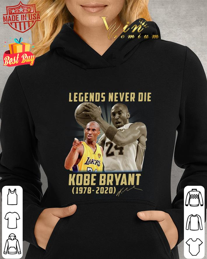 Legends Never Die Rest In Peace Kobe Bryant 1978-2020 Signatures shirt