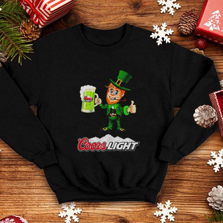 Leprechaun drinking Coors Light beer shirt