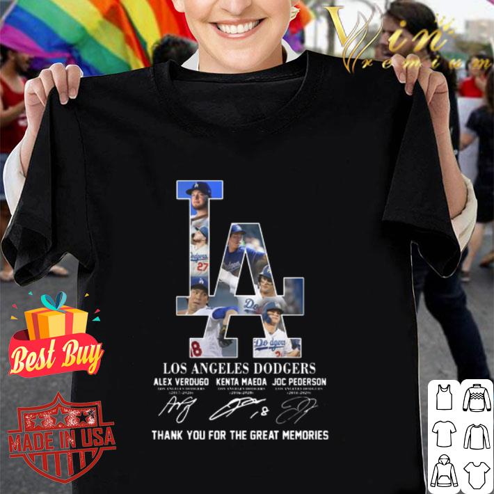 Los Angeles Dodgers signatures thank you for the great memories shirt