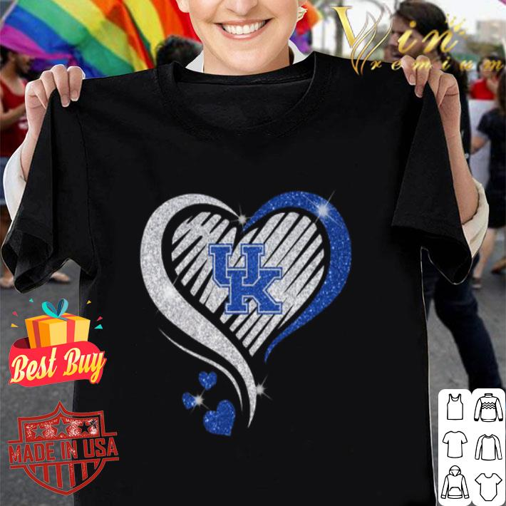 Love Kentucky Wildcats diamond heart shirt