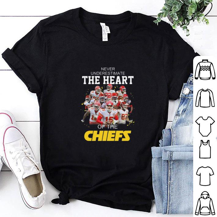 Never Underestimate The Heart Of The Kansas City Chiefs shirt 1