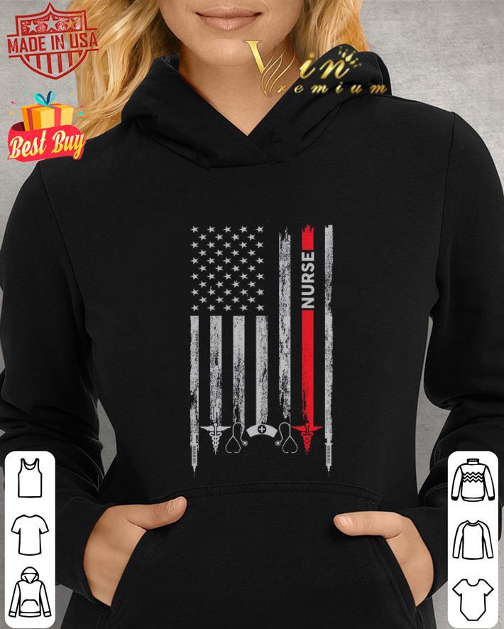 Nurse medical American flag shirt