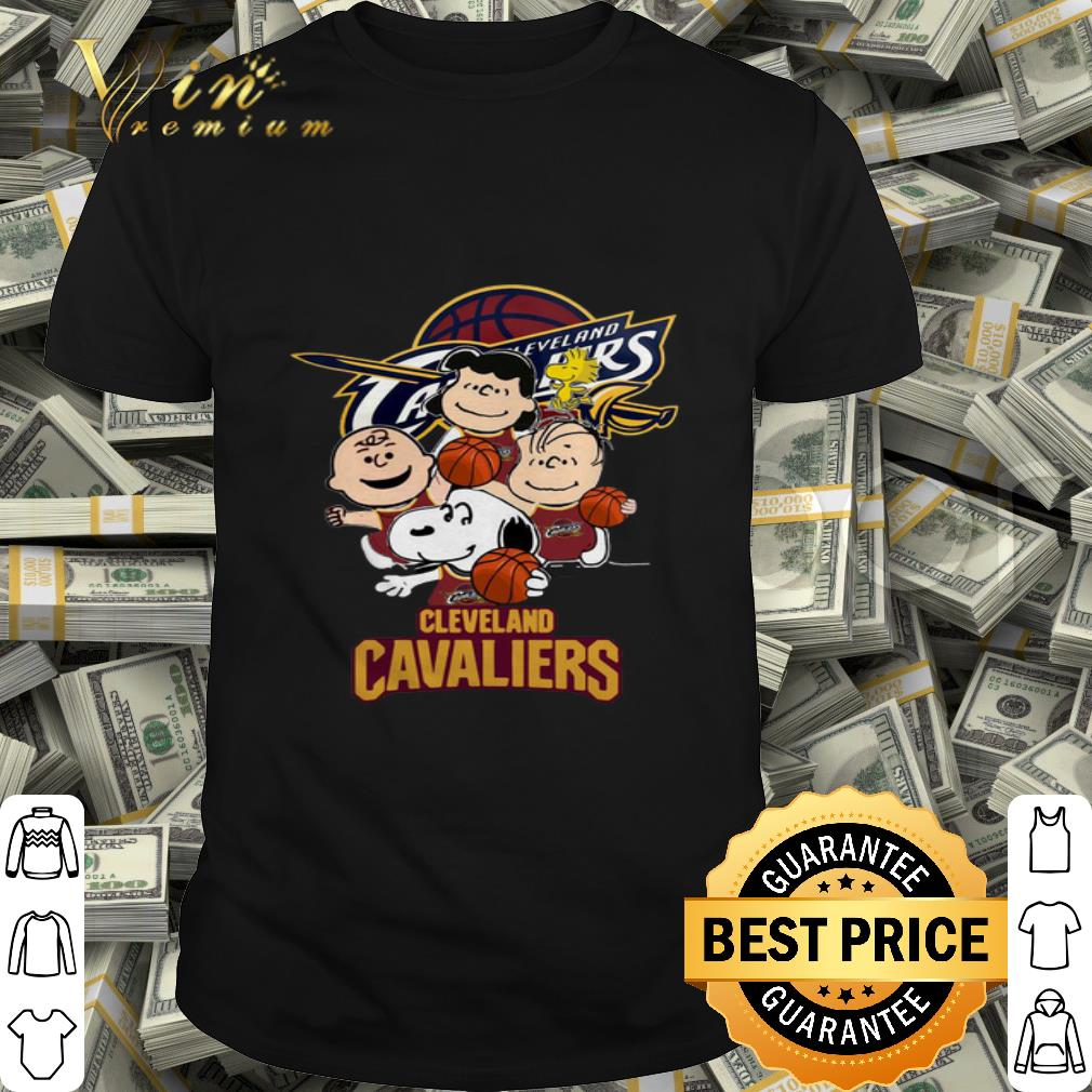 Peanuts characters Cleveland Cavaliers logo shirt
