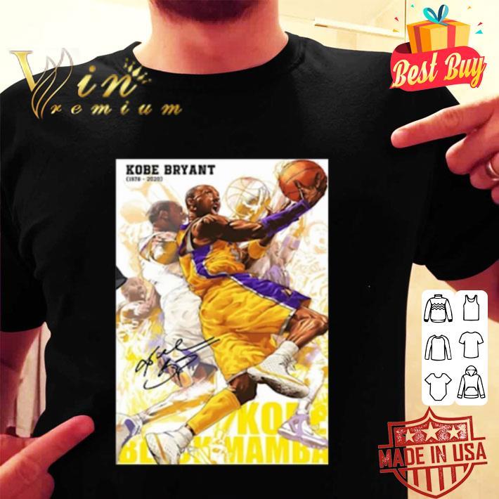 RIP Kobe Bryant 1978 2020 Signature Kobe Black Mamba Out Poster shirt