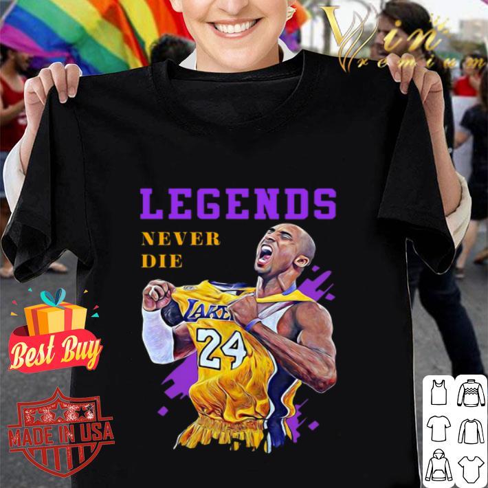 Rip Kobe Bryant Legends Never Die shirt