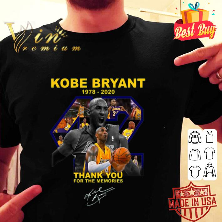 Rip Kobe Bryant Thank You For The Memories Signature shirt