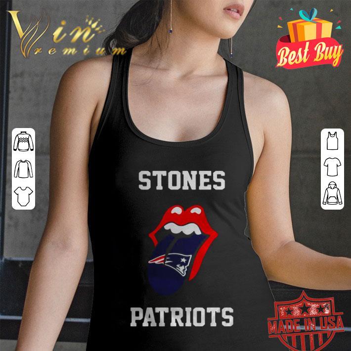 Rolling Stones Logo New England Patriots shirt
