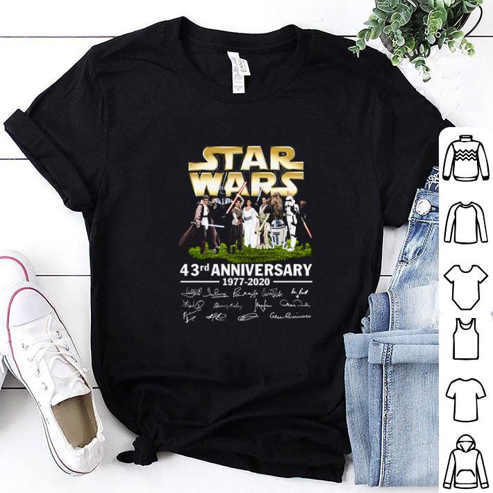 Star Wars all character 43rd anniversary 1977-2020 signatures shirt