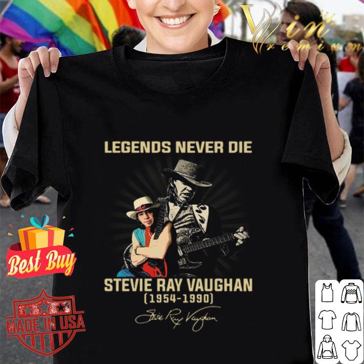 Stevie Ray Vaughan Legends Never Die 1954 1990 Signature shirt
