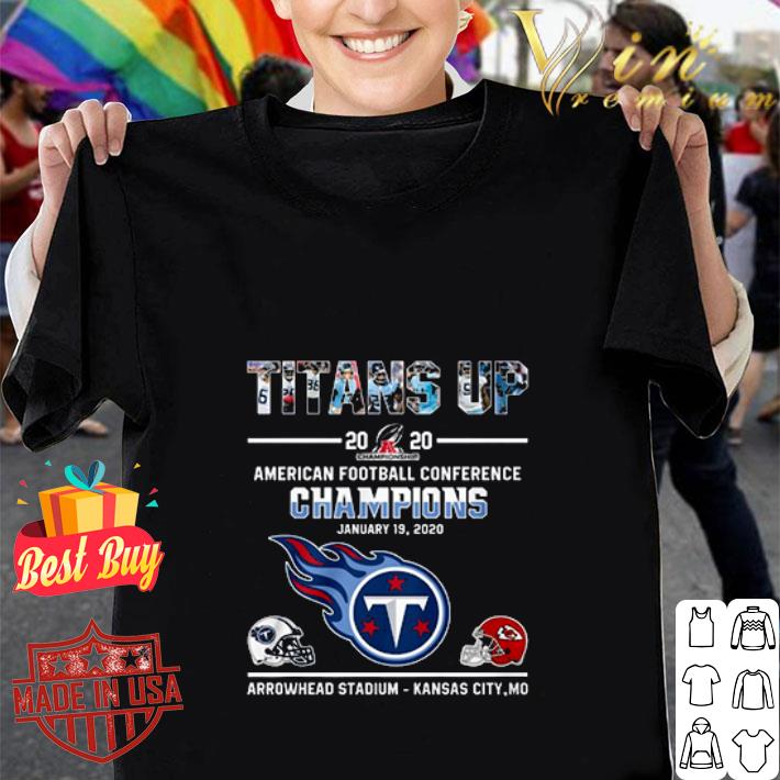 Tennessee Titans vs Kansas City Chiefs American Football Conference Champions shirt