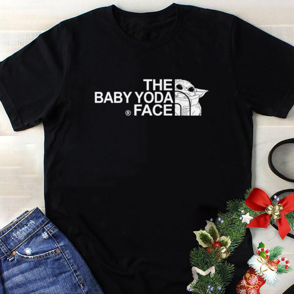 The baby Yoda face mashup The North Face shirt 1