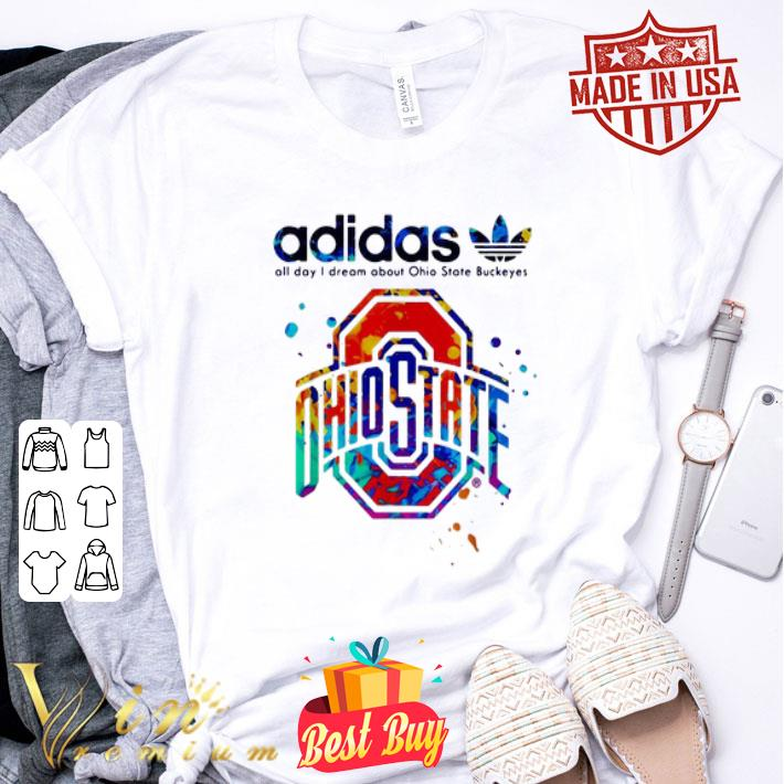 adidas all day I dream about Ohio State Buckeyes colors shirt