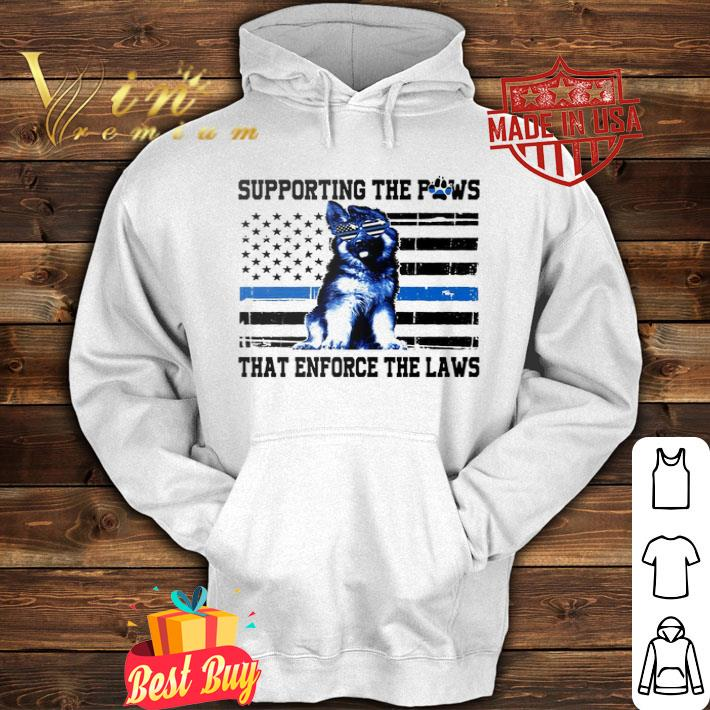 Alaska Thin Blue Line Supporting the paws that enforce the laws shirt