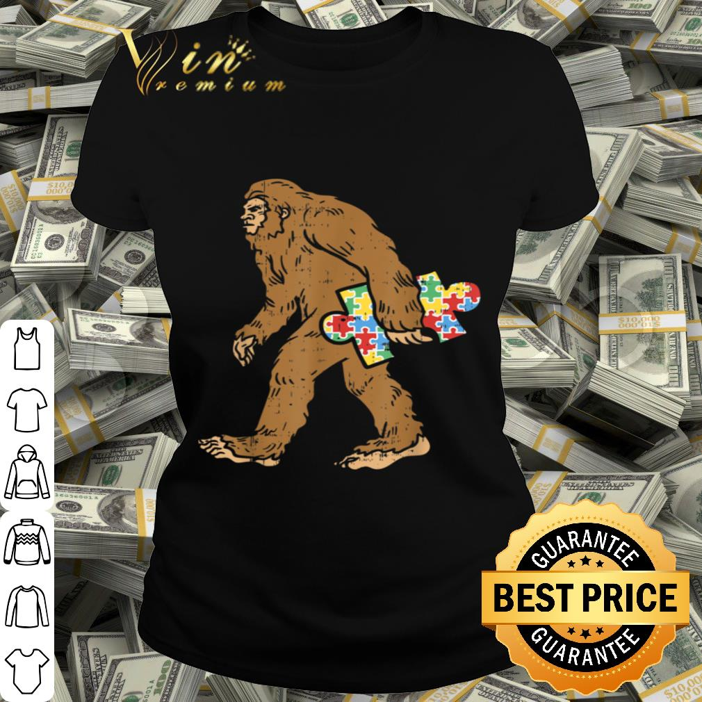 Autism Awareness Bigfoot Puzzle Sasquatch Gift Boys Girls shirt