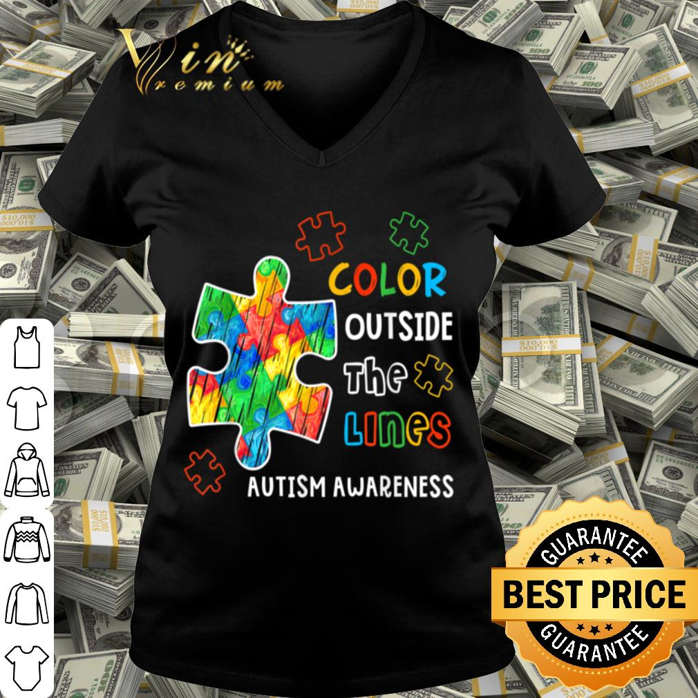 Autism Awareness Color Outside The Line shirt