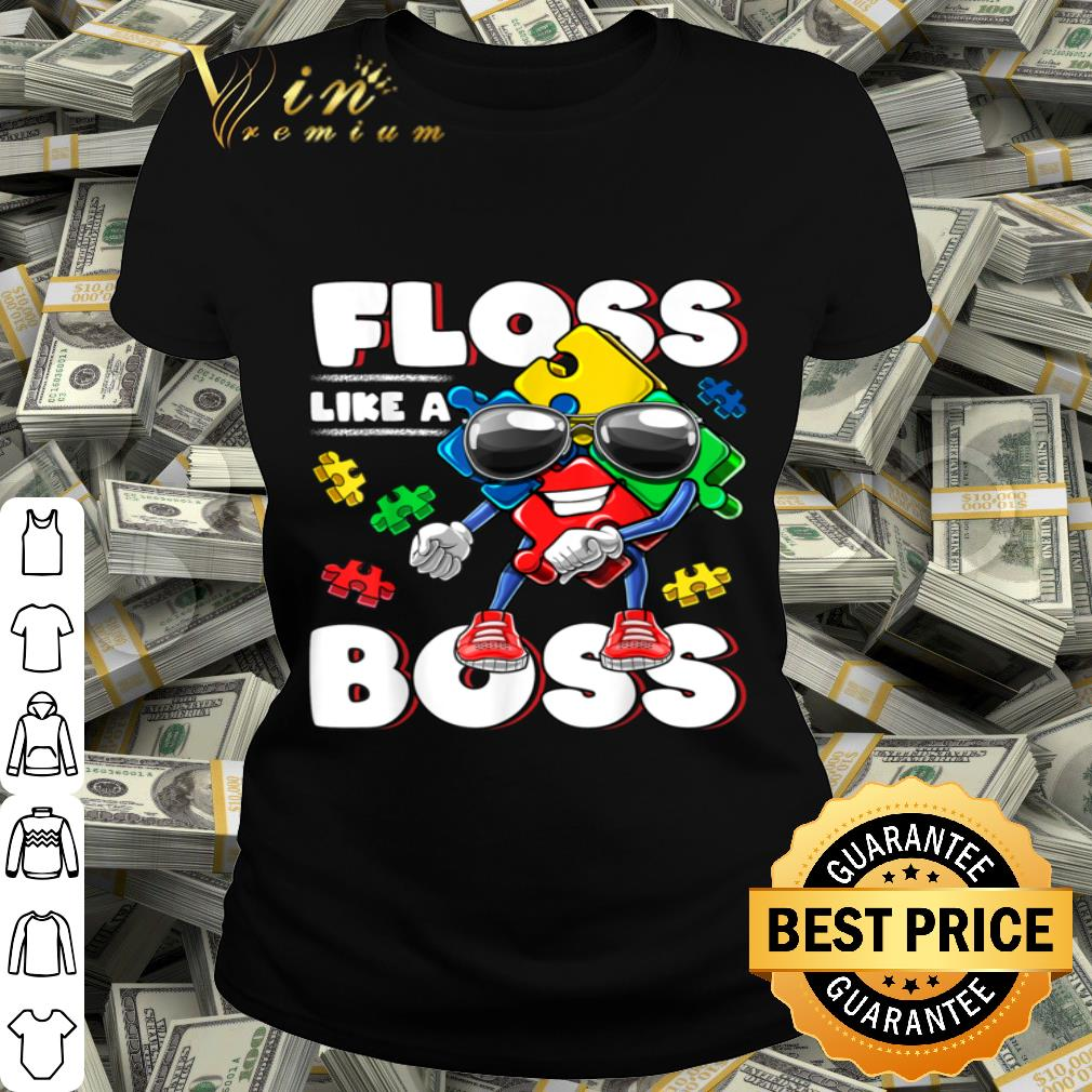 Autism Awareness Floss Like a Boss Flossing Puzzle Piece Kid shirt