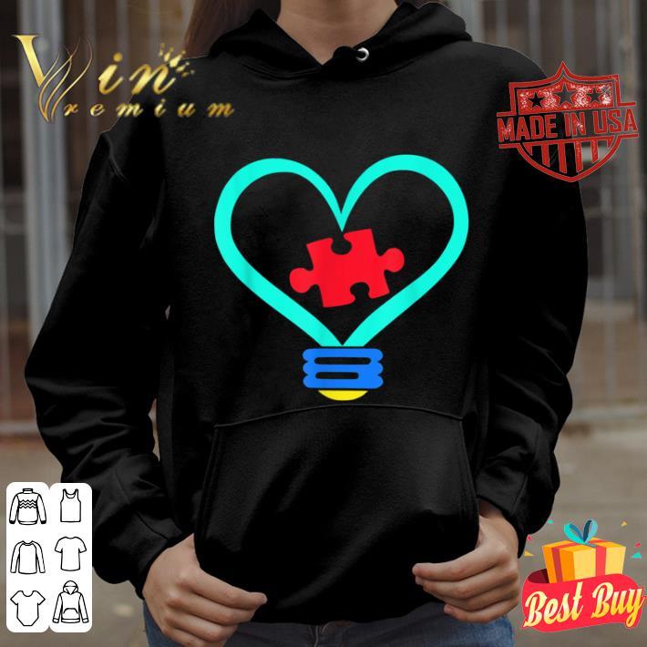 Autism Awareness Lightbulb Gift For Teachers Supporting Kids shirt