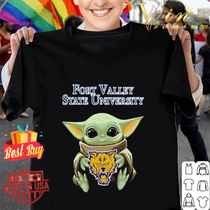Baby Yoda Hug Fort Valley State Wildcats Star Wars shirt