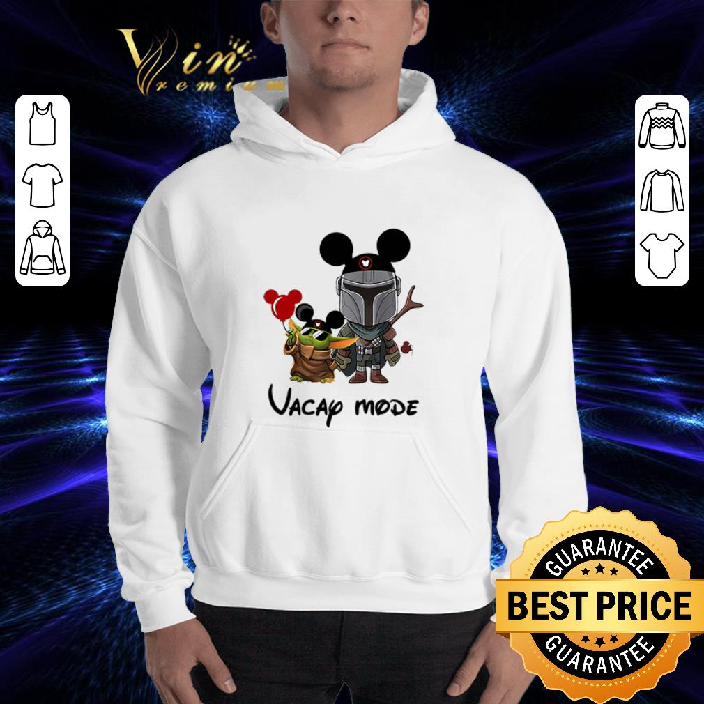 Baby Yoda And The Mandalorian Vacay Mode Disney Shirt