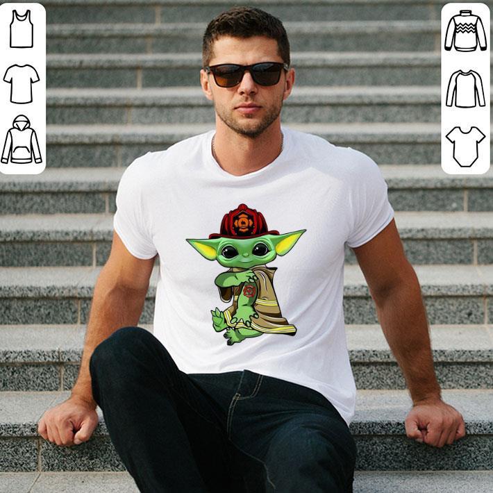 Baby Yoda tattoo Fireman shirt