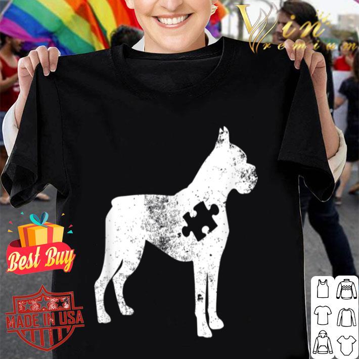 Boxer Dog Autism Awareness Puzzle Pieces Gift Ideas Mom Dad shirt