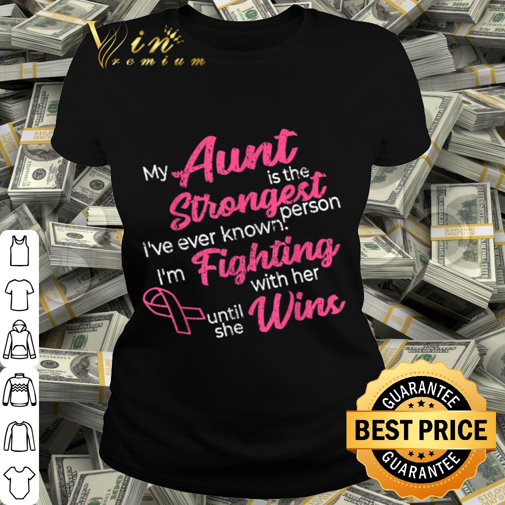 Breast Cancer Aunt Fight Win Pink Ribbon Survivor shirt